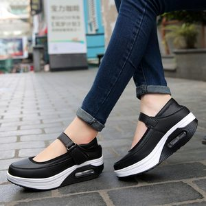 Image 5 - פלטפורמת נשים של נעלי ספורט נשים ריצת נעלי ספורט אישה ספורט נעלי אישה 2019 עור מפוצל ורוד סל אתלטי ריצה A 390