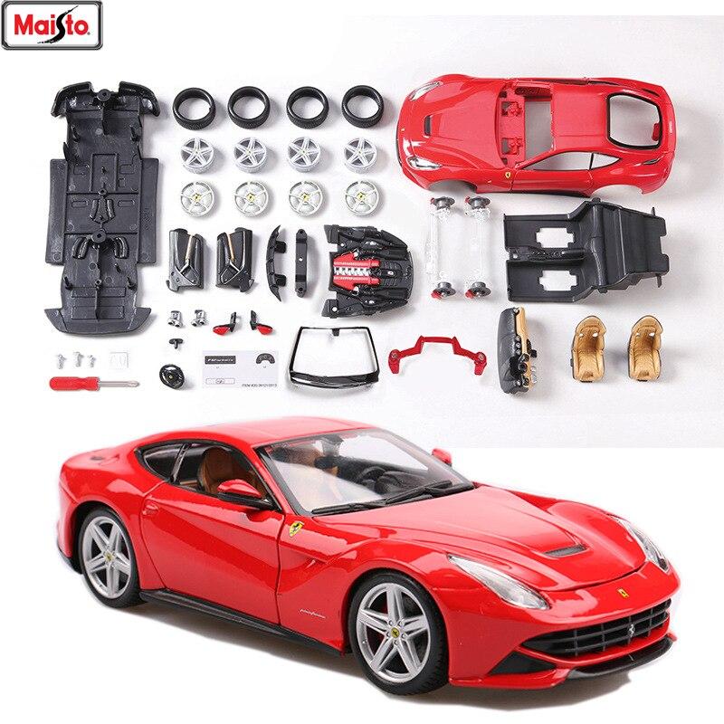 Maisto 1 24 Ferrari F12 8 Styles Ferrari Assembled Alloy Car Model Assembled Diy Toy Tool Boy Toy Gift Collection Diecasts Toy Vehicles Aliexpress