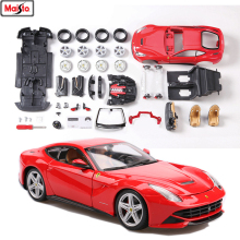 Maisto 1:24  Ferrari-F12  8 styles Ferrari assembled alloy car model assembled DIY toy tool boy toy gift collection maisto 1 12 ducati 696 assembled alloy motorcycle model motorcycle model assembled diy toy tools