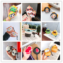 TPU Silicone 3D Cartoon Bluetooth Wireless Earphone Case For Air Pods Case Cover Accessories For Apple Airpods 2 Charging Box for apple air pods charging box protective cover luxury crocodile pattern leather bluetooth wireless earphone case for airpods