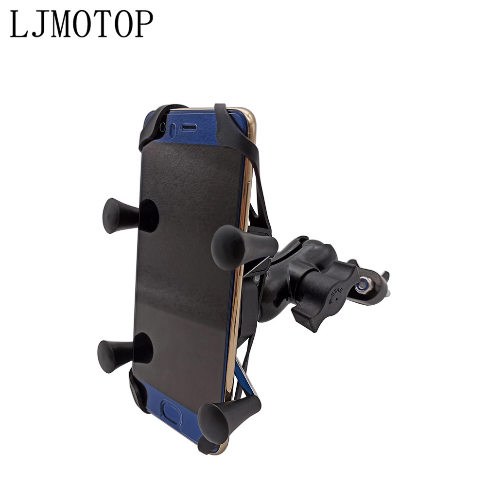 <font><b>For</b></font> honda cb190r cb1000r monkey yamaha tmax 500 <font><b>530</b></font> xmax Motorcycle Phone Bracket Handlebar Holder With USB Any Smartphone <font><b>GPS</b></font> image