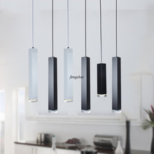 Nordic LED Bar Counter Rectangle Restaurant Pendant Lights Lighting Indoor Loft Living Room Aisle Bedroom Bar Deco Light Fixture