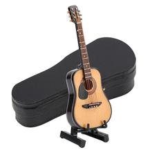 Electric-Guitar-Model Dolls House Miniature Wooden Ornament Display-Stand Musical-Instruments