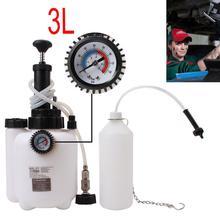 1 adet Araba Fren Hava Alma Seti Göstergesi Ile Otomatik Araç 3 Litre Fren Hava Alma Drenaj Değiştirme Aracı Fren Sıvı Dolum ekipmanları