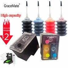 GraceMate Совместимость 56 57 перезаправляемый картридж для HP 56 57 с чернилами HP Deskjet 450 450cbi 450ci 450wbt F4140 F4180 5150 5550