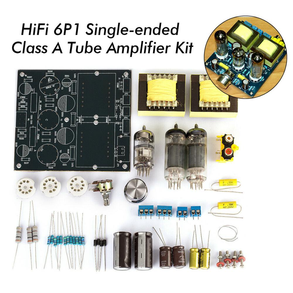 Nobsound HiFi Stereo 6N2+6P1 Single-ended Class A Tube Amplifier Amp Board DIY Kit image