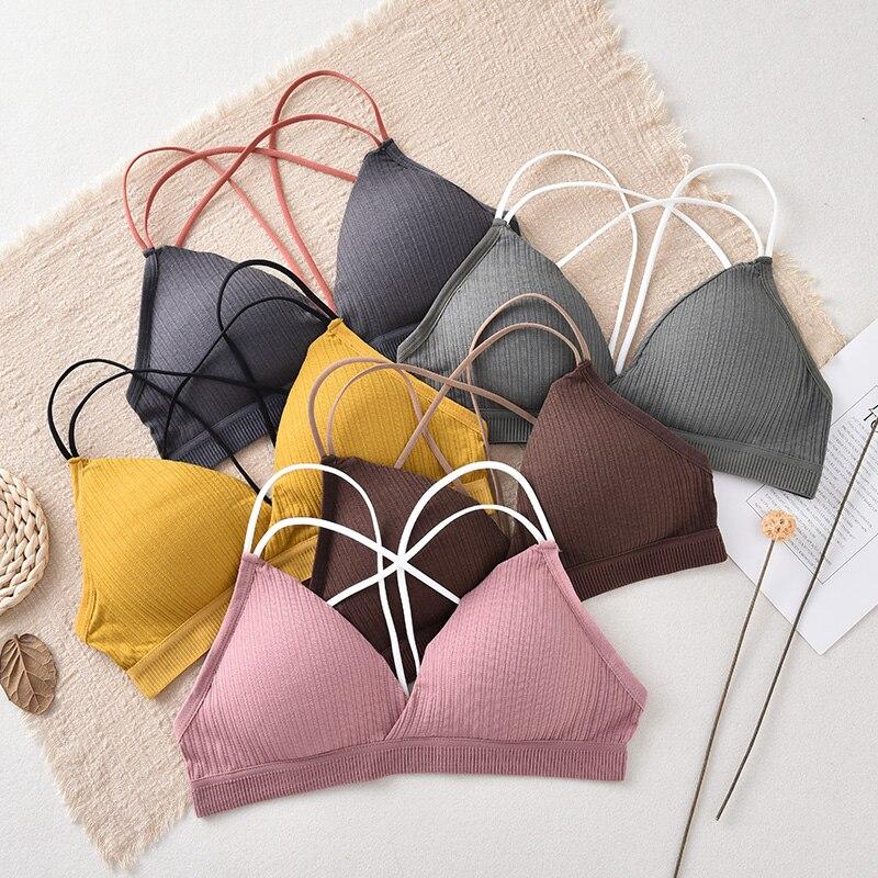 Push Up Bra Seamless Tube Top Female Wrapped Chest Women Lingerie Cotton Bra Sexy Underwear