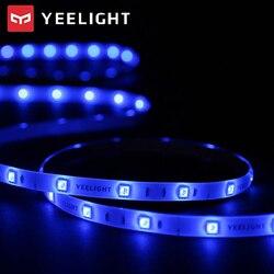 Tira de colores LED inteligente Yeelight, tira de luz ambiental de 16 millones de colores, tira de luces RGB con aplicación de Control de voz, tira de luces de 2m
