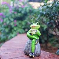 American Gardening Frog Statue Resin Crafts Animal Frog Arts Sculpture Outdoor Garden Courtyard Lawn Decoration R2964