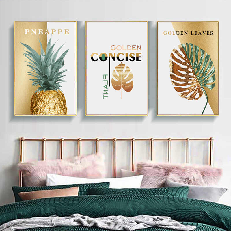 Frameless Pineapple Canvas Painting Wall Art Pictures For Living Room Home Decor Home Decor Home Decor Posters Prints