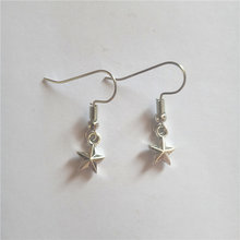 Tiny star earrings very small dangle sky jewelry creative christmas