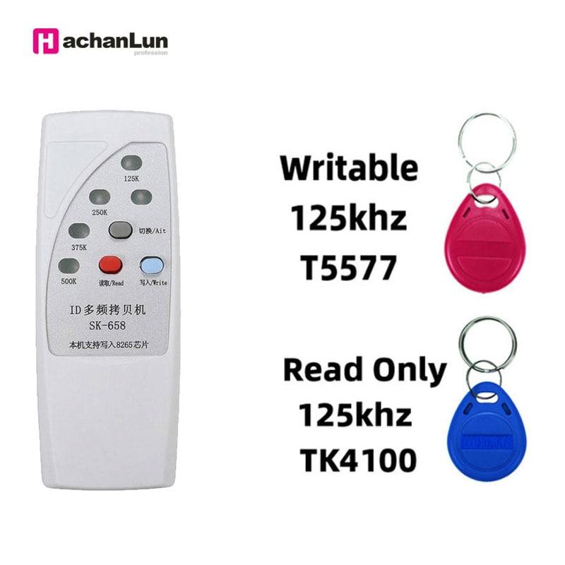 New Handheld RFID125 / 250/375 / 500KHz Copier Duplicator ID Programmer Multi-frequency Chip Reader Writer