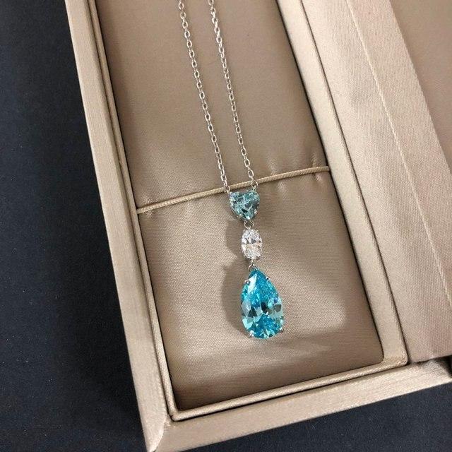 Фото модные блестящие ааааа подвески из ожерелья циркона для женщин