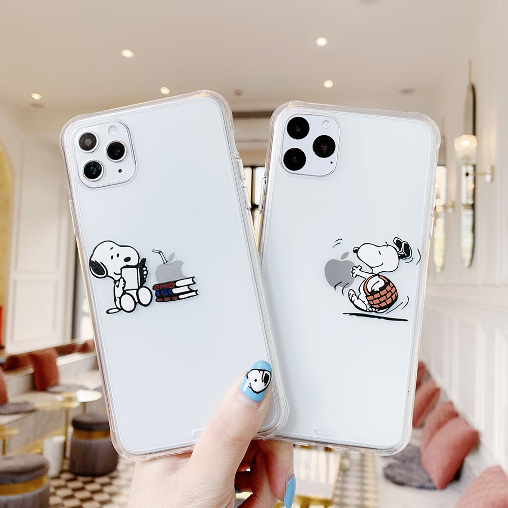 Cartoon Peanut Charlie Brown Dog Case For Iphone7 Case Transparent Soft Silicone Cover For Iphone6 6S 7 8Plus X Xr Xs Max11 Capa