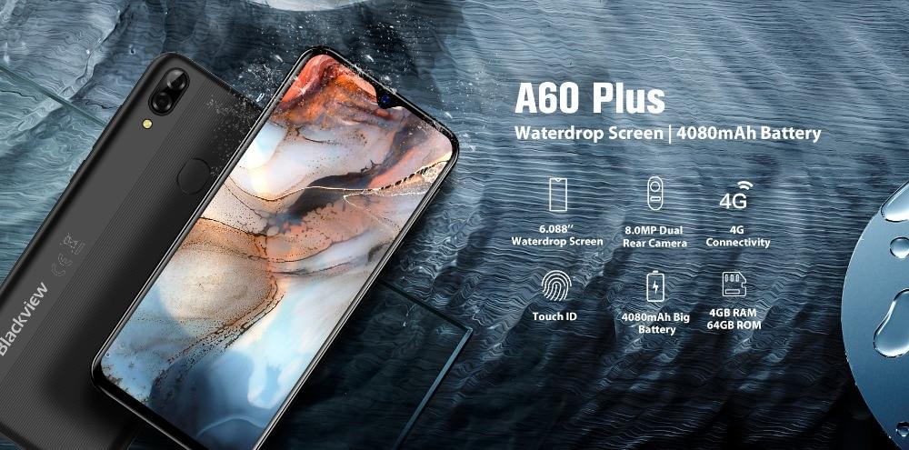 Смартфон blackview a60 plus на android 10 четыре ядра экран