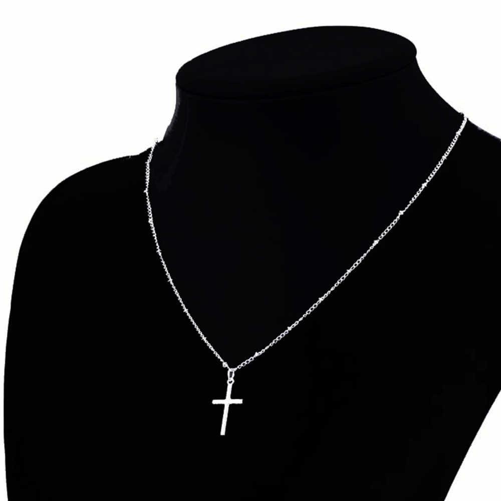 LISTE & ルーク 2019 夏ゴールドチェーンクロスネックレス小さなゴールドクロス宗教ジュエリー女性のネックレス