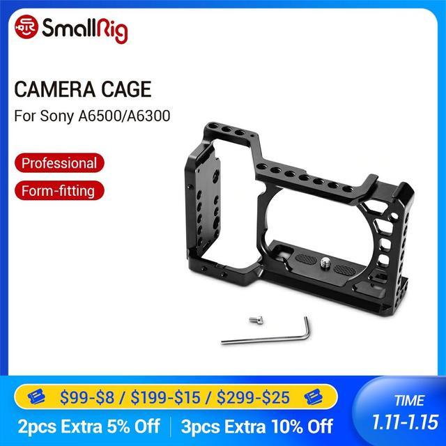 SmallRig Für Sony A6500/A6300 Kamera Käfig Verbesserte Version Schutzhülle Dslr Kamera Rig Für Sony A6500 Aluminium Legierung Käfig  1889