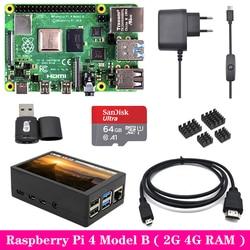 Original Raspberry Pi 4 Model B 2GB 4GB RAM with 3.5 inch TFT Touch Screen LCD Power Supply Heat Sink for Raspberry Pi 4B Pi4 B