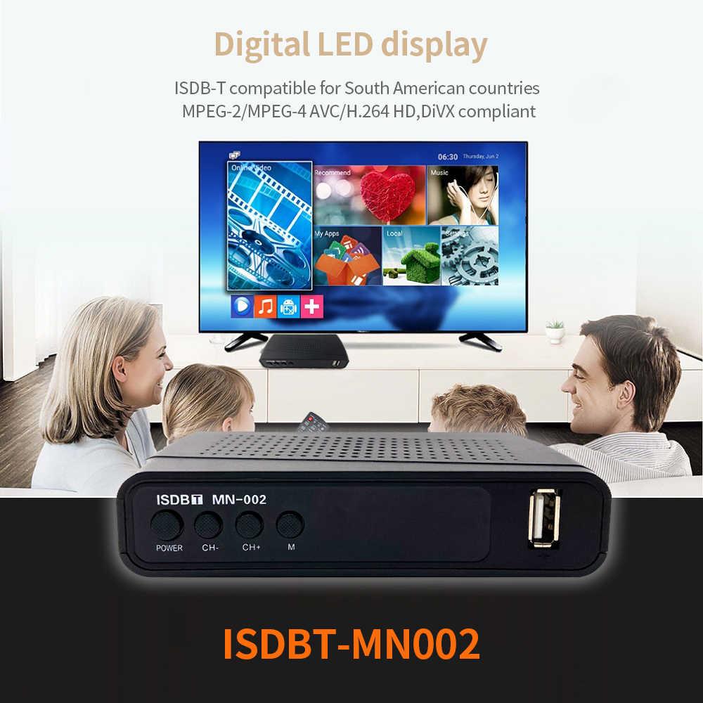 ISDB-T récepteur numérique terrestre HD numérique H.264 TV Tuner LED USB PVR AC3 ISDB T récepteur de boîte de télévision