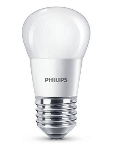 Philips Lighting Bombilla Gota Vela LED De Luz Cálida, 4 W/25 W, Casquillo E27 Blanco, 40 W
