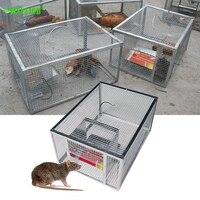 Trampa de ratones continua para el hogar, jaula trampa de serpientes y ratas automática de gran espacio, jaula segura e indolora, trampa de ratones de alta eficiencia