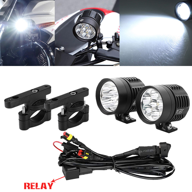 For Bmw R 1200 Gs R1200gs LED Fog Lamp & Protect Guards & Wiring Harness for Bmw F800 Gs R1200 GS ADV R1200gs 2010 R1200gs 2011 image