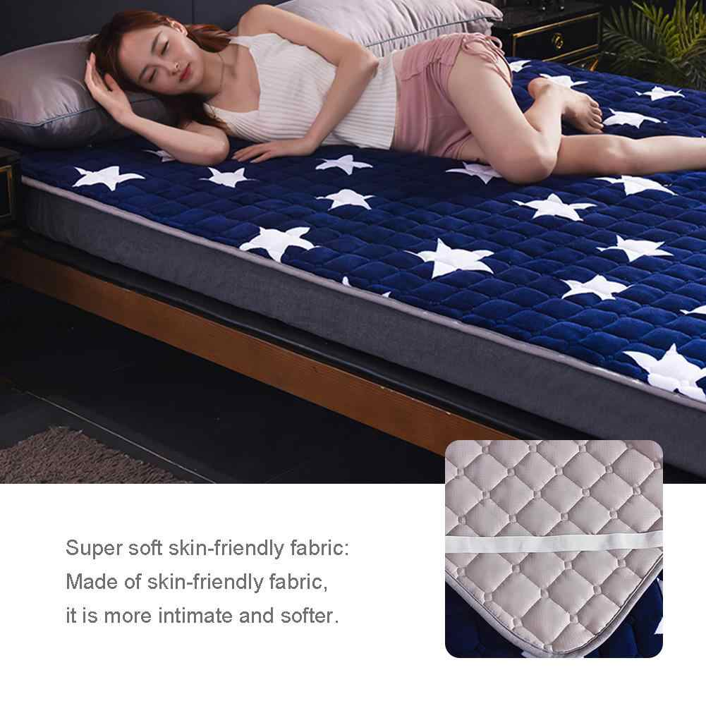 Dikke Matrashoes Antislip Bed Matras Protector Cover Anti-Bacteriën Matras Topper Luchtdoorlatende Bed Pad Vier Seizoenen