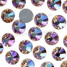 AAA szampan AB nie naklejane kryształki dla 3D do paznokci design z cekinami kryształowe błyszczy strass szklana naklejka do manicure dekoracja