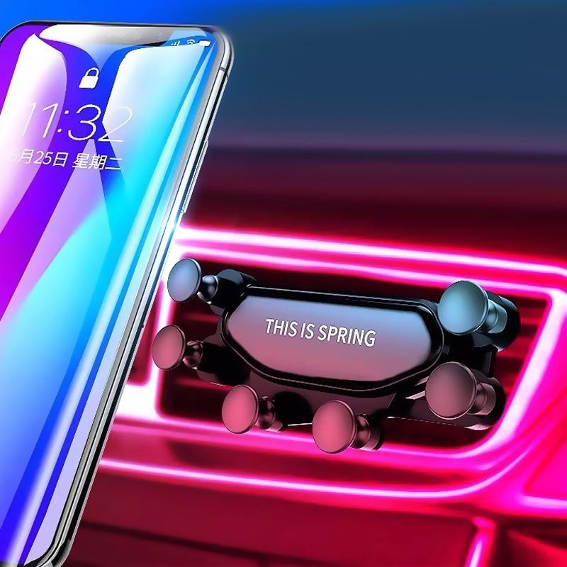 Universal New Hot Car Phone Bracket Mount Auto Air Vent Grip Gravity Car Mount Holder Gravity Bracket For IPhone X Xiaomi Huawei
