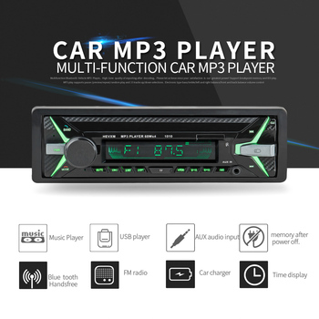 Car Radio 1din Autoradio Aux Input Receiver Bluetooth Stereo MP3 Multimedia Player Support FM/MP3/WMA/USB/SD Card image