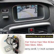 واجهة كاميرا الرؤية الخلفية لسيارة فولفو, واجهة كاميرا الرؤية الخلفية للسيارة لسيارة فولفو xc60 v60 s60 v40 S60L S80L محول النسخ الاحتياطي شاشة أصلية ترقية جهاز فك التشفير