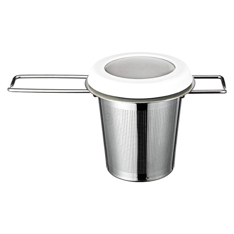 Mesh Tea Infuser Stainless Steel Thicken Tea Strainer Foldable Double Handles Tea Steeper Filter with Drip Tray Fit Teapots Cups|Tea Strainers| |  - title=