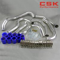 Aluminium Intercooler Hard Pipe piping hose Kit FOR WRX IMPREZA GDA GDB 00 05 BLUE -