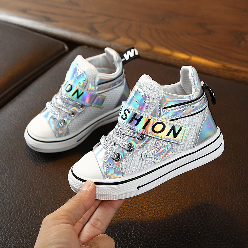 Autumn Kids Fashion Boots Toddler Sequin Boys Ankle Martin Boots Non-slip Baby Girls Boots For Children Sneakers Princess Boots
