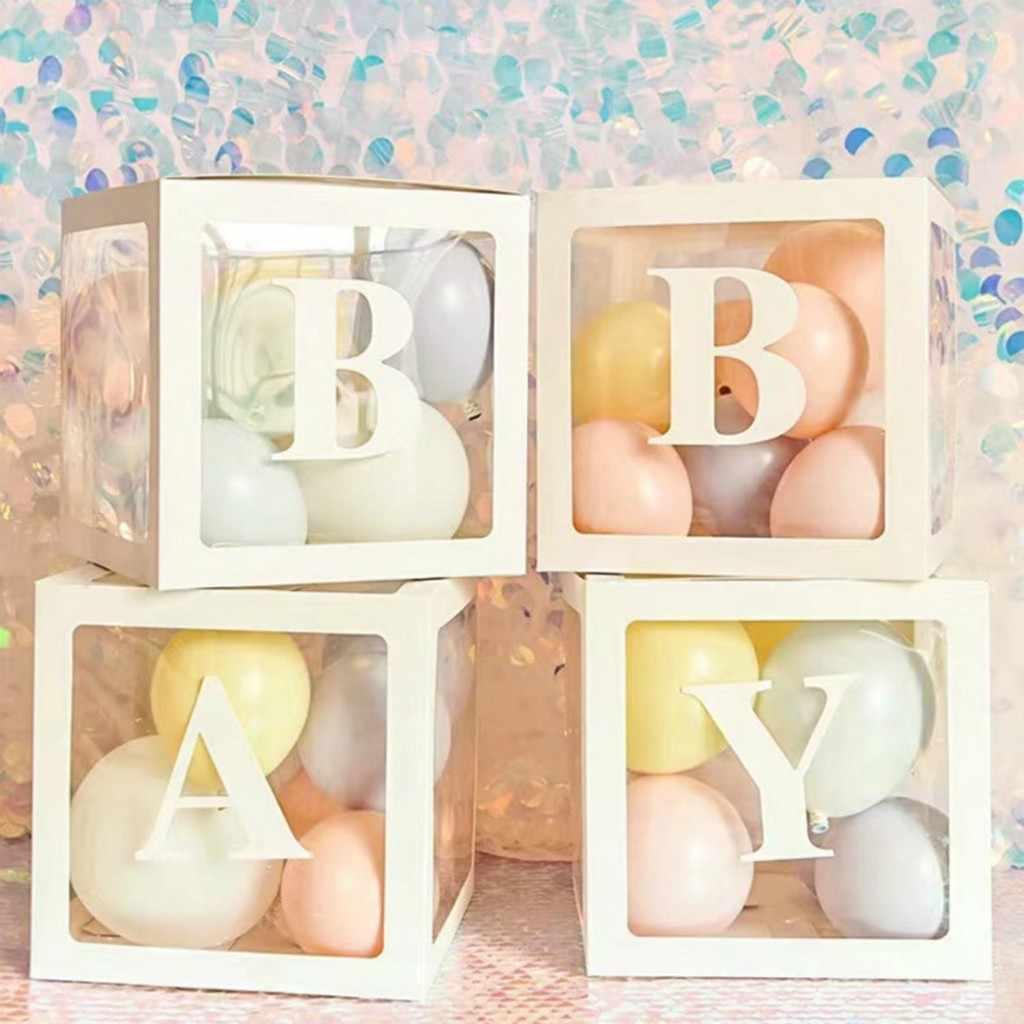 Decoratie Organisatoren Brief Az Transparante Geschenkdozen Kid Verjaardag Baby Shower Partij Decoratie Huishouding Huis Organiseren