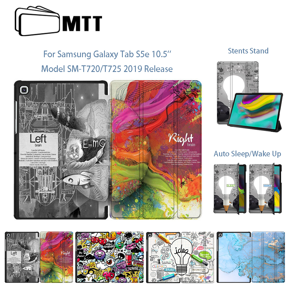 MTT Tablet <font><b>Case</b></font> For Samsung Galaxy Tab S5e 10.5'' 2019 SM-<font><b>T720</b></font> T725 Funda PU Leather Fold Flip Stand Smart Cover Protect Shell image