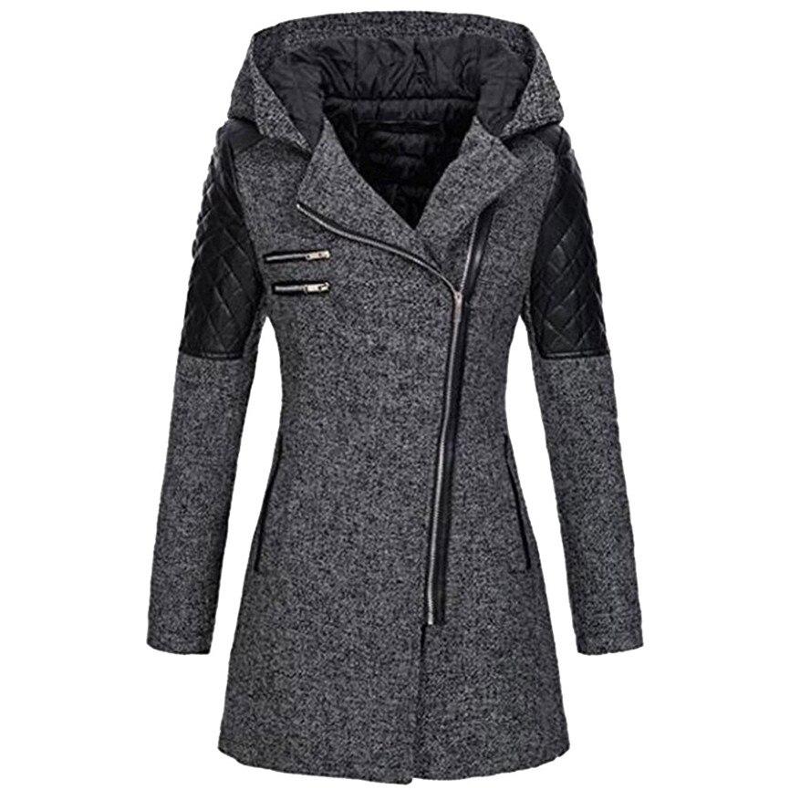 2019 New Women's   Basic     Jacket   Women Warm Slim   Jacket   Thick Parka Overcoat Winter Outwear Hooded Zipper Coat Windbreaker coats