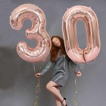 32/40 Polegada grande número da folha de aniversário balões ar hélio figuras balão aniversário decorações festa aniversário do miúdo baloons presentes