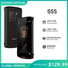 DOOGEE – Telefon komórkowy S55 z prawdziwą ochroną IP68, wodoodporny smartfon, 4GB RAM, 64GB ROM, bateria 5500 mAh, procesor MTK6750T Octa Core, wyświetlacz 5,5