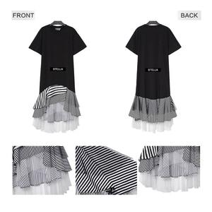 Image 5 - New 2020 Autumn Long Sleeve Woman Black Trumpet Dress Patchwork Ruffle Stylish Stretched Ladies Cute Midi Casual Dress Robe 2048