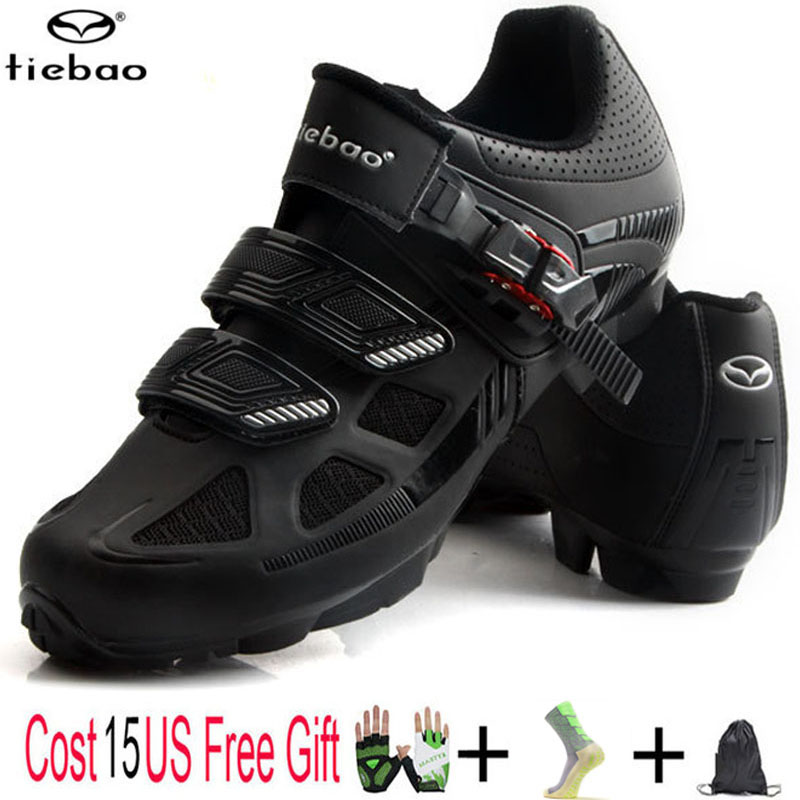 Tiebao New Cycling Shoes Bicycle Cycle Bike Shoes MTB SPD Self-locking Breathable Racing Mountain Cycling Boots For Women & Men