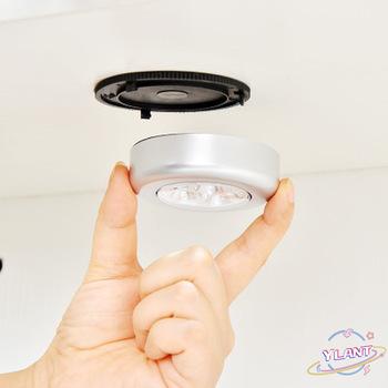SWT na szafkę bezprzewodowa lampa światła samochód lampa wisząca kinkiety kuchnia szafa 1PC 3 4 LED Mini dotykowe światło nocne światła tanie i dobre opinie YLANT CN (pochodzenie) STOP Ogniwo suche light XGQ760