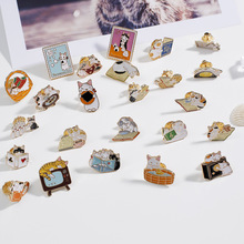 Japanese cute Book Pin brooches Good vibes badges Read more lapel pins Funny quote jewelry collection A30