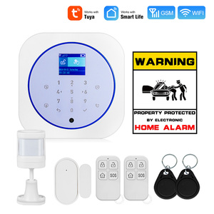 Towode Smart Home Security Alarm System WiFi GSM Wireless 433MHz Tuya APP Android IOS Control Touch keyboard Control(China)