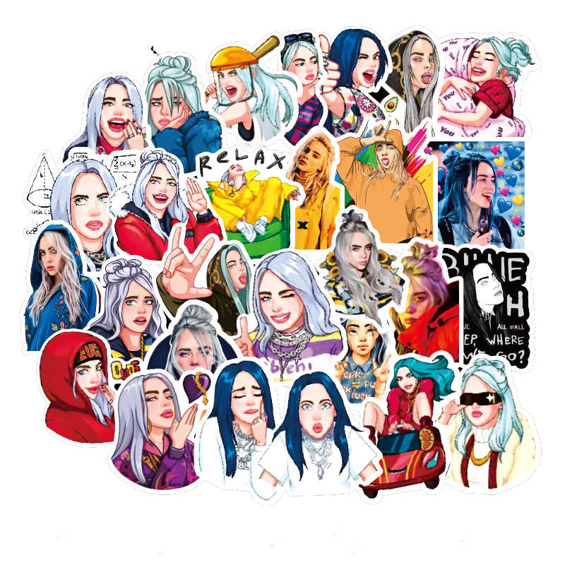 50Pcs Billie Eilish สติก