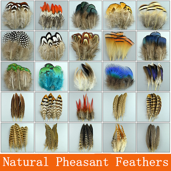 Natural Pheasant Feathers for Needlework Rooster Plumes DIY Decor Feathers for Crafts Handicraft Accessories Wedding Decoration 24pcs multiple styles natural peacock pheasant feathers for crafts jewelry making accessories decoration plumes 5 15cm wholesale