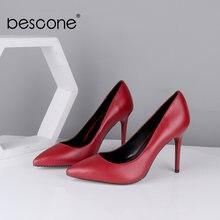 Bescone/Женская обувь из овечьей кожи на высоком каблуке модные