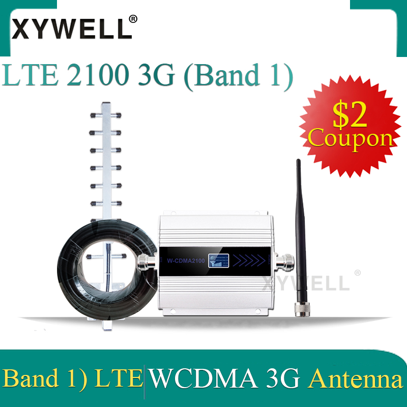 XYWELL  3G Cellular Signal Booster WCDMA 2100MHz Signal Repeater 2100 LTE Band 1 With LCD Display Mobile Phone Signal Amplifier