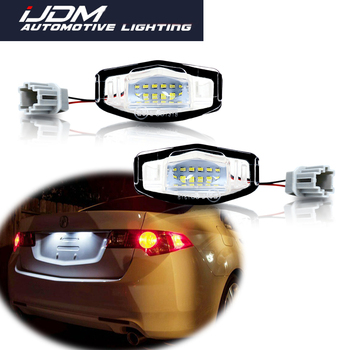iJDM Canbus 6000K Xenon White LED Car Number License Plate Lights For Honda Civic Accord Pilot, Acura MDX RL TL TSX RDX ILX etc image