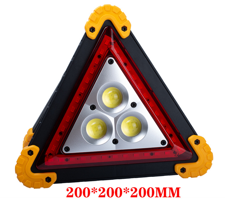 Triangle Emergency Warning Light USB Rechargeable Solar Charge Lamp Work Light Waterproof LED Warning Light With Hook
